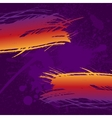 Grunge colorful brush strokes on dark purple paint vector image