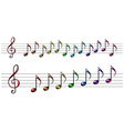 Rainbow music vector image