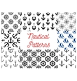 Nautical and marine concept patterns vector image vector image