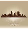 Minneapolis Minnesota skyline city silhouette vector image vector image