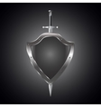 Metal swords and shield vector image