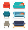 interior sofa vector image