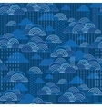 Rain clouds seamless pattern background vector image