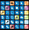 icons button vector image vector image