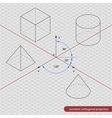 isometric projection grid vector image