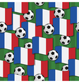 france football pattern vector image