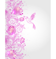 Hand drawn decorative pink floral background vector image vector image