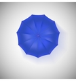 Opened blue umbrella top view closeup vector image vector image