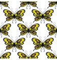 Bright colored butterflies seamless pattern vector image