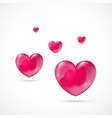 Glossy Red Heart Valentines Day vector image