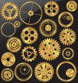 Gold gear set vector image