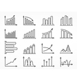 Graph Line Icons Set vector image