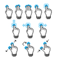 Pixel touch screen gestures vector image