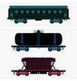 Railroad cars vector image