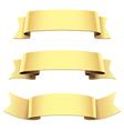 ribbon set gold vector image