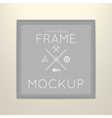 template of square frame with poster vector image