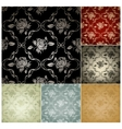 Seamless Pattern set of six colors vector image vector image