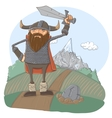 Cartoon viking vector image