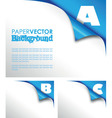 abc paper fold vector image vector image