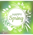 Happy Spring green card design with a textured vector image vector image