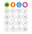 universal icons quotes ribbon heart and cake vector image