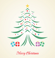Christmas tree creative card on background vector image vector image