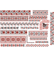 Floral red and black patterns for embroidery stitc vector