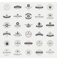 Retro Vintage Logotypes or insignias set vector image
