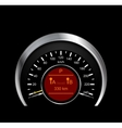 Abstract of metal speedometer vector image