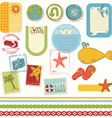 summer holiday scrapbook set vector image vector image