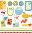 summer holiday scrapbook set vector image