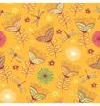 seamless vintage flower pattern background vector image vector image