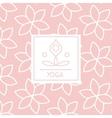 Abstract Figure Pink Yoga Studio Design Card vector image