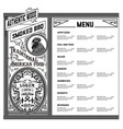 american food menu vector image