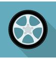 flat wheel vector image