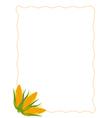 Fresh Sweet Ears of Yellow Corns Background vector image