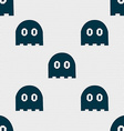 Ghost icon sign Seamless pattern with geometric vector image