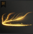 glowing golden transparent light effect background vector image