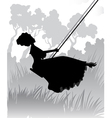 Lady on a swing vector image