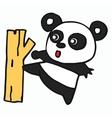 Panda cartoon for t-shirt design vector image