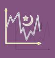 paper sticker on theme arabic business desert vector image
