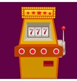 Slot machine with jack pot vector image