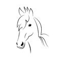 Symbol sketch outline head horse vector image