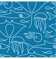 Seamless pattern made of sea fauna vector image