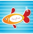 fish sticker with tape vector image vector image