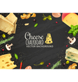 Delicious Cheese Background vector image