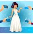 glamorous female singer in dress vector image