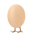 Walking egg vector image