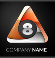 number eight logo symbol in the colorful triangle vector image