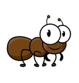 Cartoon cute brown ant character vector image vector image